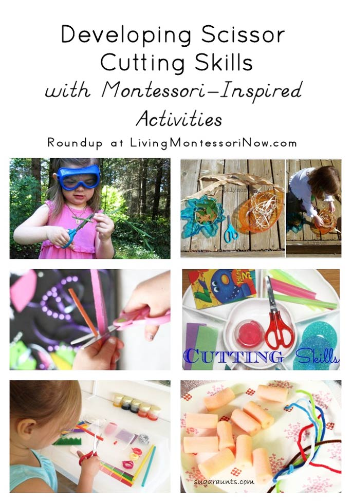 Developing Scissor Cutting Skills with Montessori-Inspired Activities