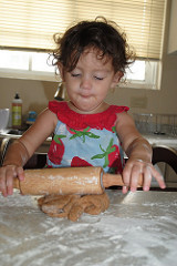 Food Preparation using a Child-Sized Rolling Pin (Photo from Vibrant Wanderings)