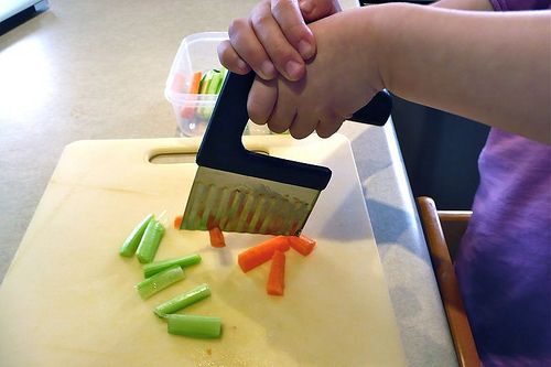 Cutting Vegetables (Photo from How We Montessori)