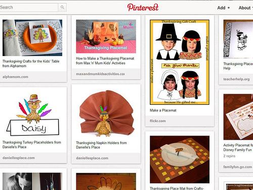 Pinterest - Kids' Thanksgiving Activities