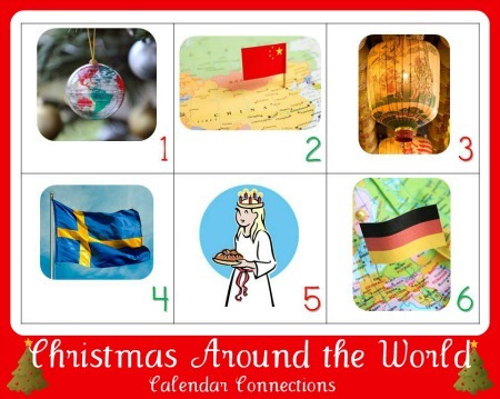 Christmas Around the World: Calendar Connections (Photo from 1+1+1=1)