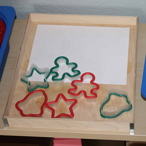 Tracing Cookie Cutters Activity (Photo from Montessori MOMents)