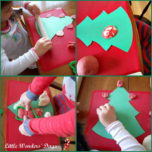 Candy Cane Playdough (Photo from Little Wonders' Days)