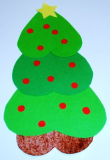Christmas Tree of Heart Shapes (Photo from Learning Ideas Grades K-8)