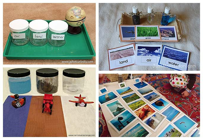 Land, Air, and Water Sorting Activities