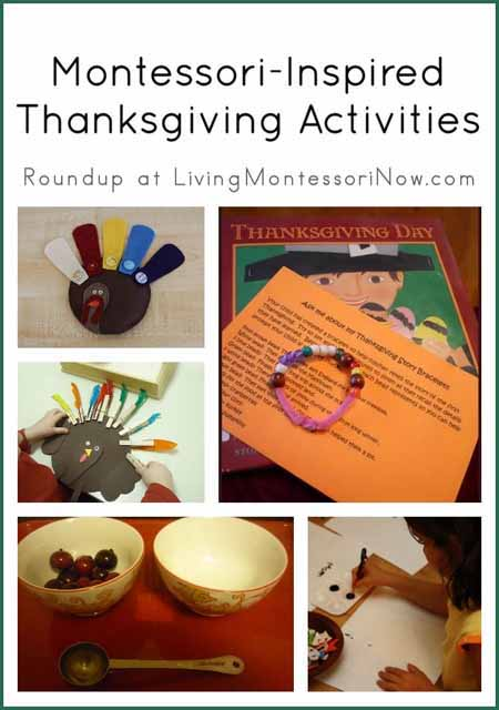 Montessori-Inspired Thanksgiving Activities