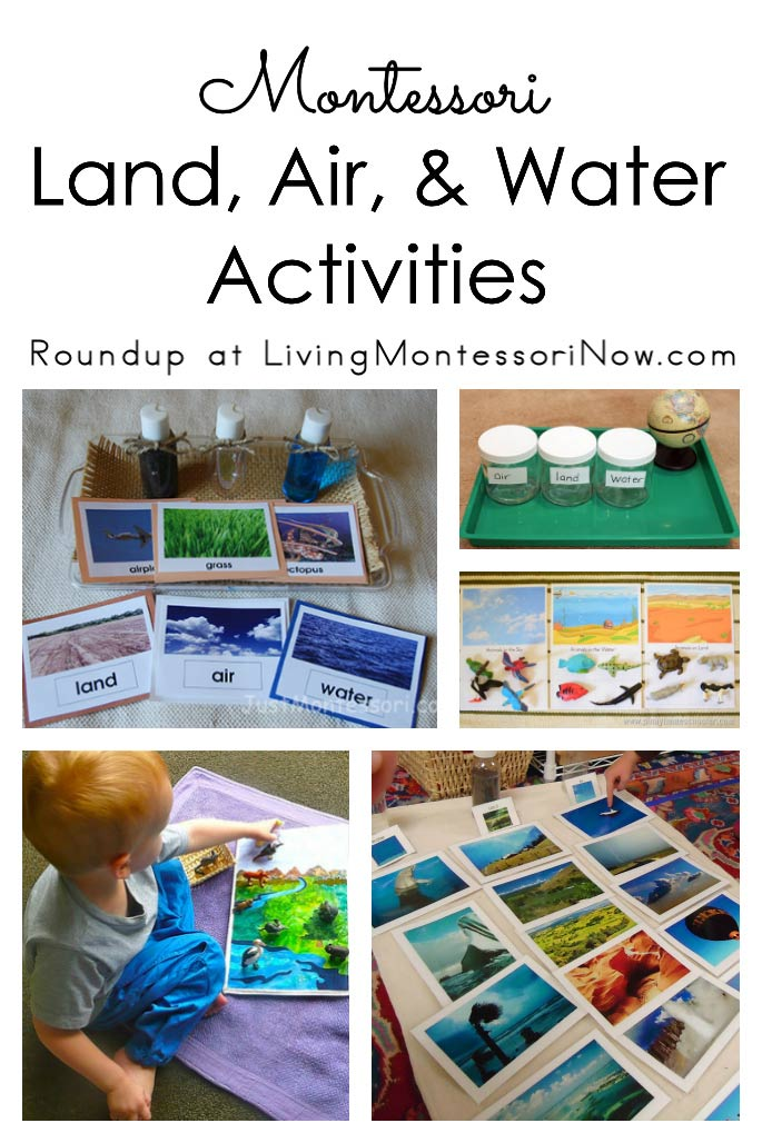 Montessori Land Air And Water Activities