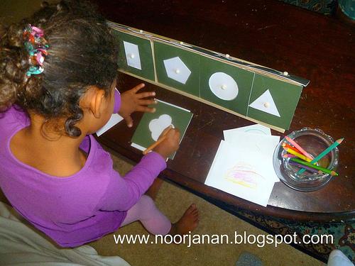 DIY Geometric Shapes (Photo from Noor Janan Homeschool)