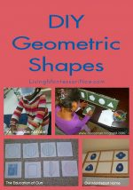 Montessori Monday – DIY Geometric Shapes