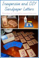 Montessori Monday – Inexpensive and DIY Sandpaper Letters
