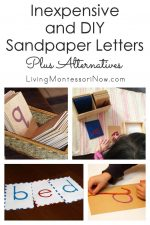 Inexpensive and DIY Sandpaper Letters Plus Alternatives