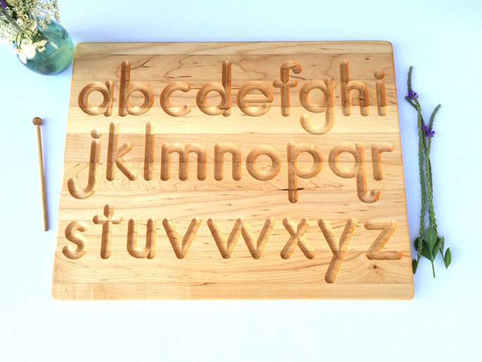Printed Alphabet Wood Tracing Board