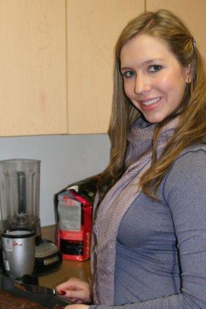Christina Making Vegan Fudge during the Holidays