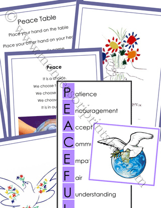 Peace Table Cards (Image from Montessori Print Shop)