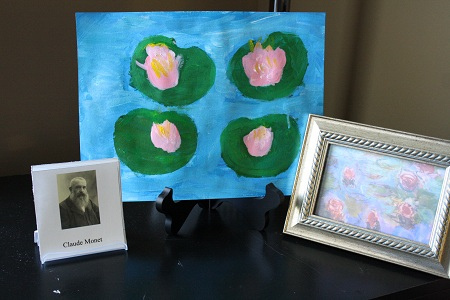 Study of Claude Monet (Photo by Julie at The Adventures of Bear)