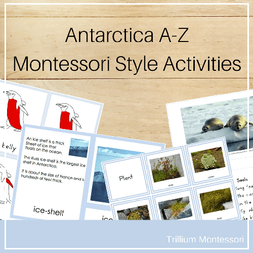 Antarctica A-Z Montessori Style Activities from Trillium Montessori