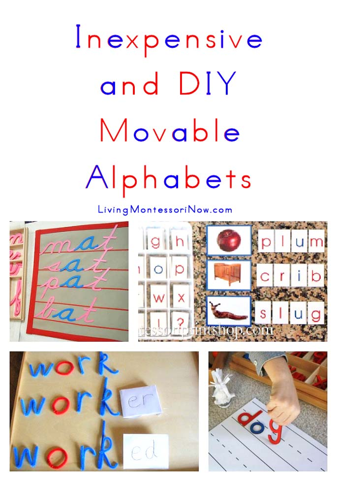 Inexpensive and DIY Movable Alphabets