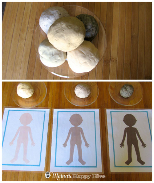 Skin Tone Sensory Activities from Mama's Happy Hive