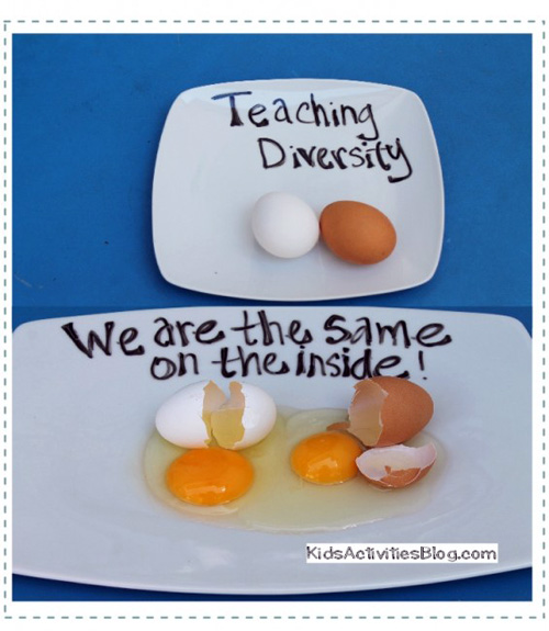 What Is Diversity? {Egg Activity for Dr. Martin Luther King Jr Day} by Mari Hernandez-Tuten at Kids Activities Blog