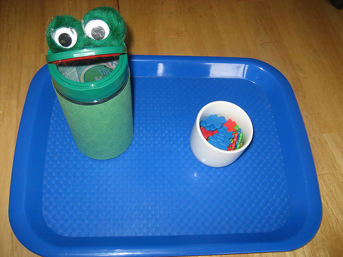 Feed the Frog Activity (Photo from The Preschool Experiment)