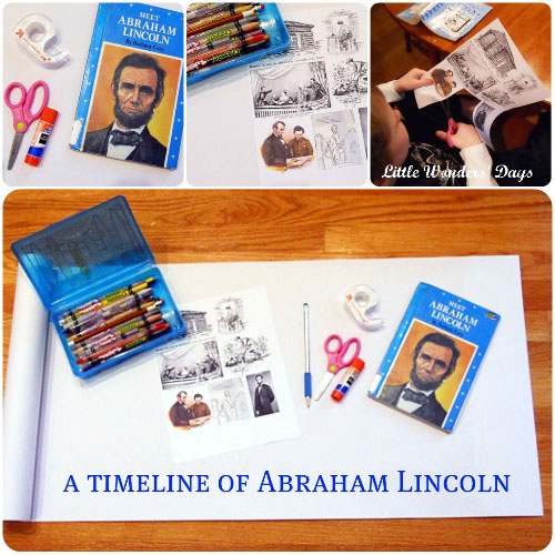 A Timeline of Abraham Lincoln (Photo from Little Wonders' Days)