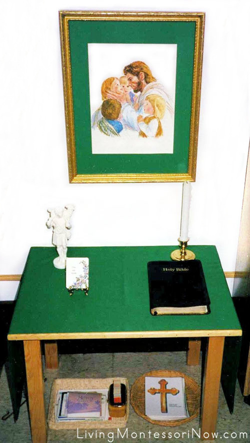 Catechesis of the Good Shepherd Prayer Table for Ordinary Time