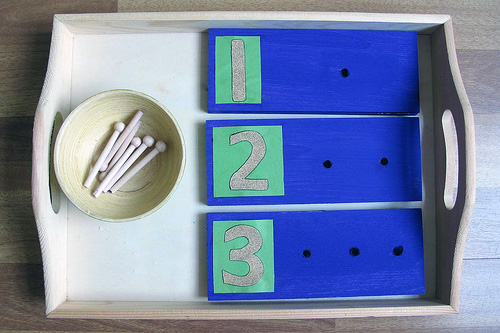 DIY Counting Boards with Sandpaper Numerals from Peaceful Parenting