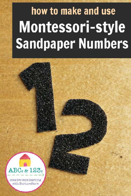 DIY Sandpaper Numerals from Nurture Store