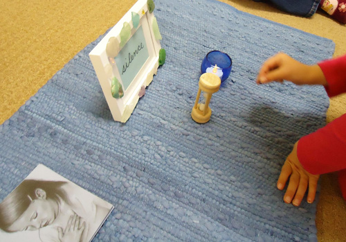 Individual Silence Work (Photo from Dirigo Montessori School)