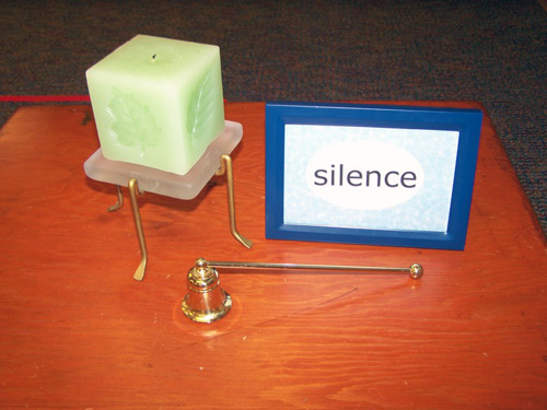 Making Silence Activity (Photo from My Montessori Journey)