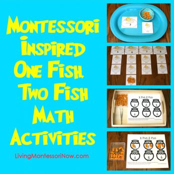 Montessori-Inspired One Fish, Two Fish Math Activities
