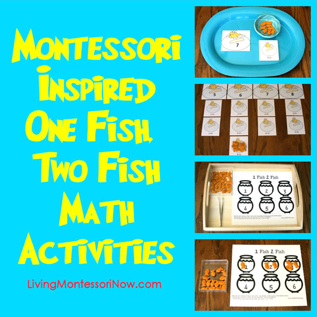 graphic regarding One Fish Two Fish Printable called Montessori-Encouraged A single Fish, 2 Fish Math Actions Working with