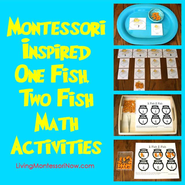 Montessori-Inspired One Fish, Two Fish Math Activities Using Free Printables