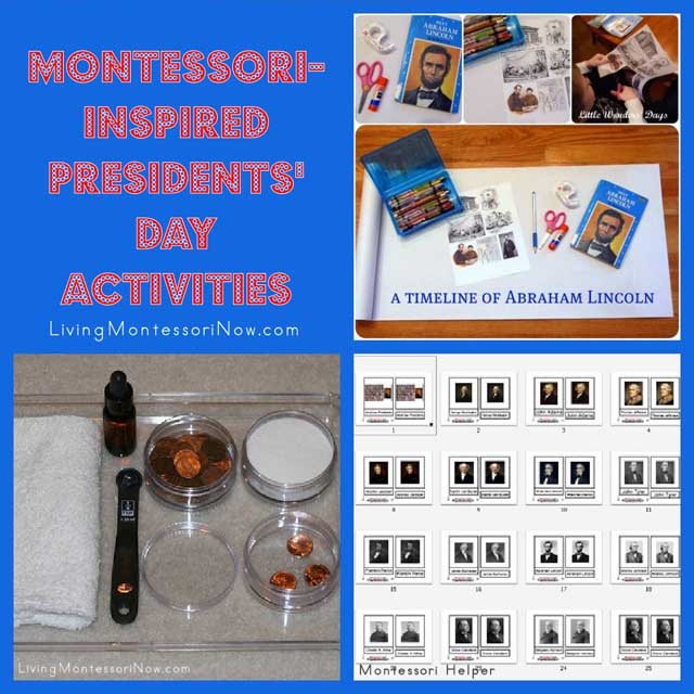 Montessori Monday – Montessori-Inspired Presidents' Day Activities
