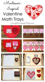 Montessori-Inspired Valentine Math Trays