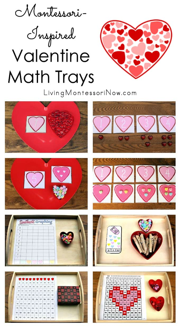 Montessori-Inspired Valentine Math Trays.
