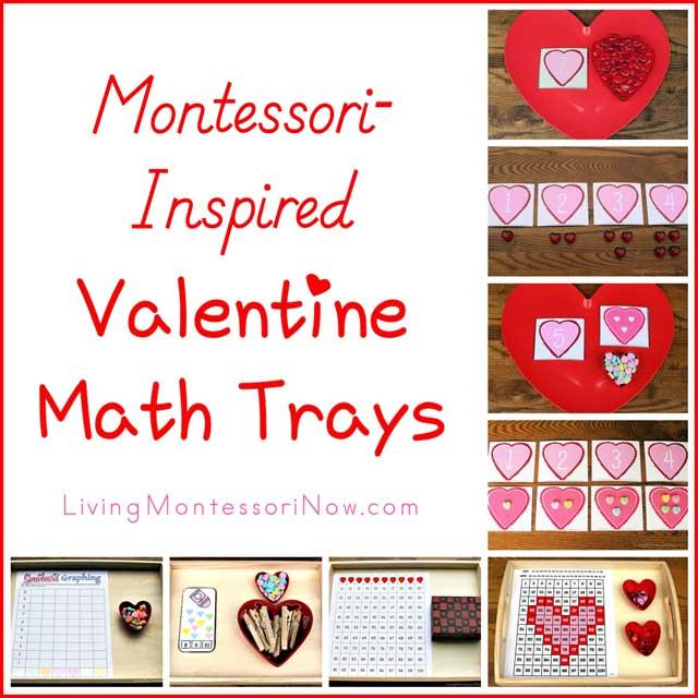 MontessoriInspired Valentine Math Trays