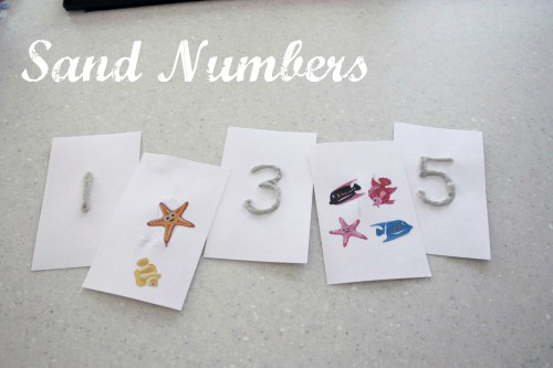 Sand Numbers from I Can Teach My Child