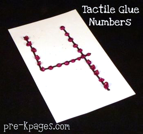 Tactile Glue Numbers from Pre-K Pages