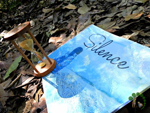 The Silence Game in Nature (Photo from Montessori Nature)