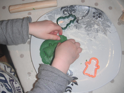 Making Green Cookies (Photo from My Montessori Preschool)