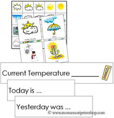 Weather Tracking Cards (Image from Montessori Print Shop)