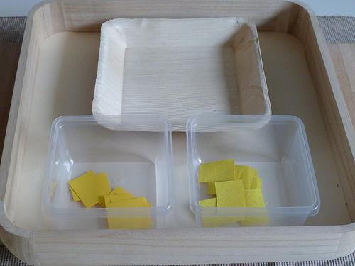 Sandpaper and Normal Paper Sorting (Photo from Elaine Ng Friis)