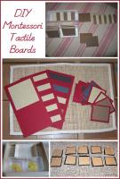 DIY Montessori Tactile Boards
