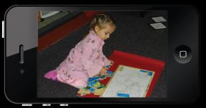 Montessori Compass on an iPhone