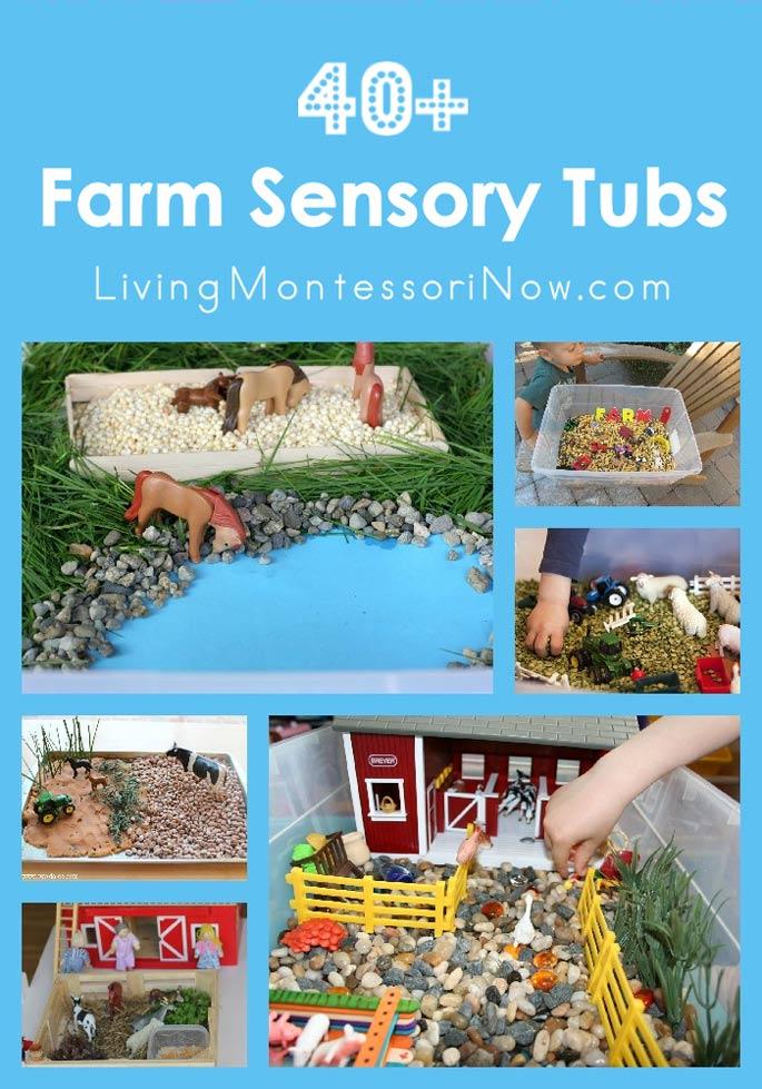 40+ Farm Sensory Tubs (Sensory Bins)