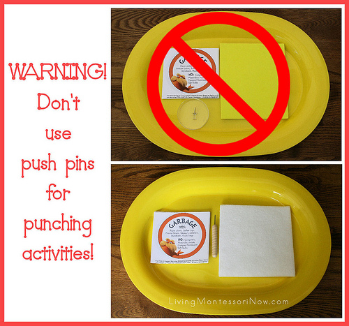 Lorax Recycling Label Punching Activity