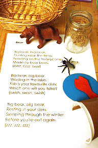Bear Poetry Basket (Photo by Julie from The Adventures of Bear)