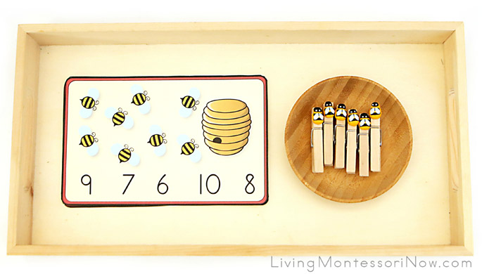 Bee Count-and-Clip Cards