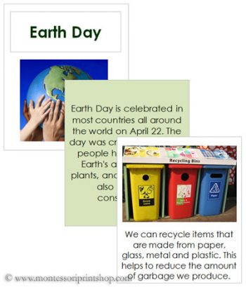 Earth Day Cards and Recycle Booklet (Image from Montessori Print Shop)